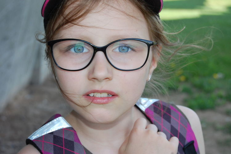 Beautiful Childhood Cute Eyeglasses  Eyes Face Girl Kids One Person Portrait EyeEmNewHere Outdoors Little Girl Little Model Little Lady  Little Woman Glasses Children Faces Lithuania Girlpower