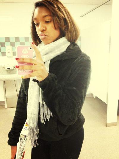 Earlier at school. Cold as fuck.