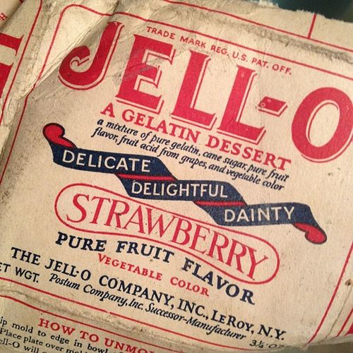 Jello from June 1914 -- you read that right.Nofilter