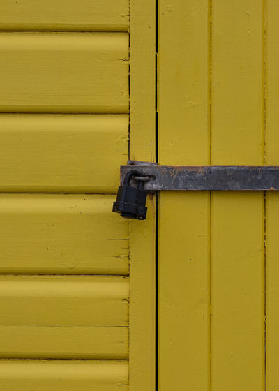Full frame shot of yellow door