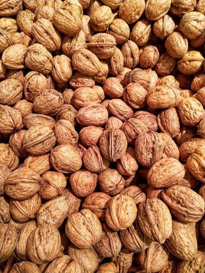 Walnuts on market