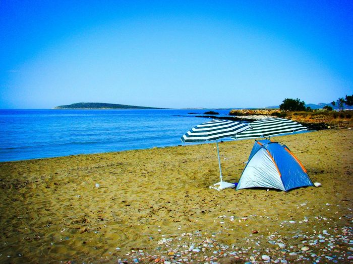 Beach Beach Photography Life Is A Beach Camp Camping Day Camp Umbrellas Sand Sandy Beach Shades Of Blue Share Your Adventure Greek Islands Landscapes With WhiteWall Sea And Sand Tranquility A Moment Of Zen... Blue Wave Q Quiet Places Summer Memories 🌄 Summer Views Seascape Aliki Beach Paros Island