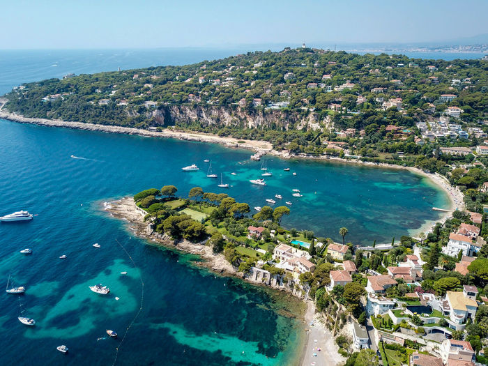 Golf de St Jean Cap Ferrat, France Nature Landscape Landscapes Beauty In Nature EyeEm Nature Lover Eye4photography  France EyeEm Gallery Traveling Landscape_Collection Naturelovers Drone  DJI Mavic Pro Dronephotography Droneshot Boat Saintjeancapferrat Stjeancapferrat Yachting Sailing Ship Water Sea Yacht Nautical Vessel Beach Aerial View Seascape Coastline Bay Coast