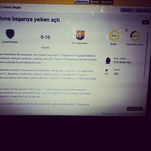 Kusura bakma Çarşambam :D çarşambaspor Barcelona FootballManager2014 :)
