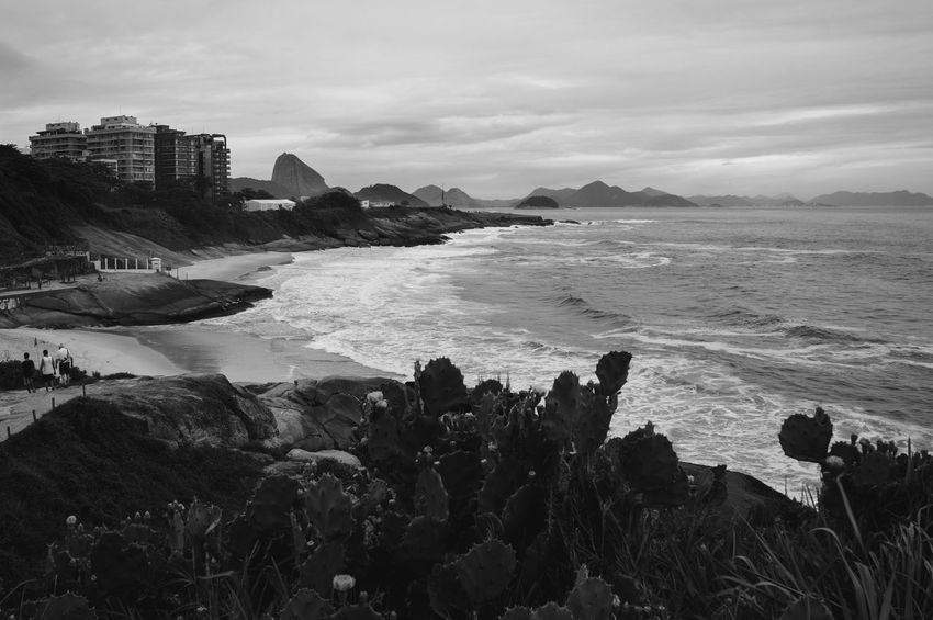 Beach Beach Life Beach Photography Beachphotography Black & White Black And White Blackandwhite Horizon Over Water Life Is A Beach Nature Outdoors Rio De Janeiro Riodejaneiro Sea Top View Vacations Water