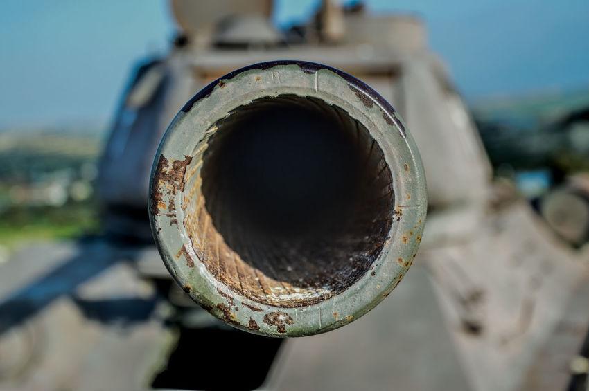 Antique Tank Close-up Day Gun Barrel No People Outdoors Sky
