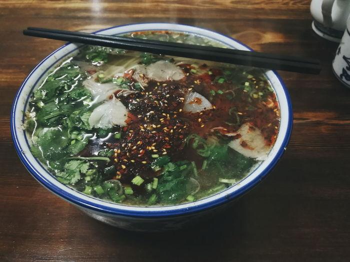 兰州拉面 兰州拉面 Meat Noodle Lanzhoulamian Lanzhou Noodle Noodles Chinese Food Chinese Noodles 拉面 Bowl Ready-to-eat Indoors  No People Food