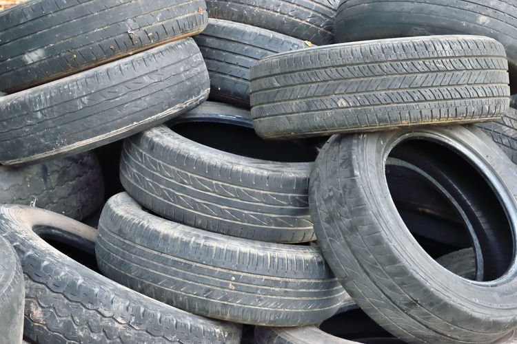 Pile of abandoned tires