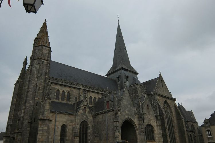 Ancient Arch Architectural Feature Bell Tower Built Structure Church Cloud Façade History Low Angle View No People Outdoors Religion Spirituality Street Street Photography Streetphotography Guerande Bretagne Breizh