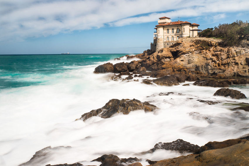 Beach Beauty In Nature Castel Boccale Cliff Cloud - Sky Coastline Day Horizon Over Water Idyllic Livorno Livorno. Tuscany.sea Nature No People Outdoors Sand Scenics Sea Sky Travel Destinations Water Wave Waves
