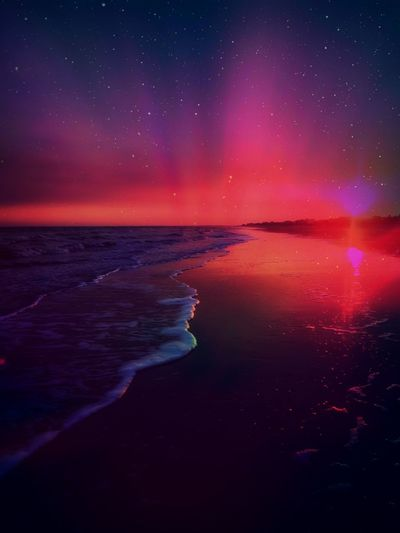 Beauty In Nature Nature No People Outdoors Sea Sky Star - Space Star Field