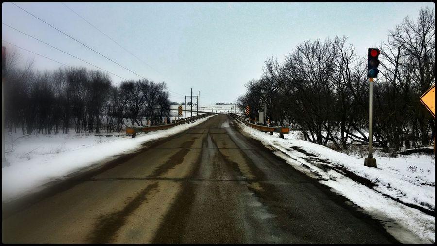 One Lane Bridge South Dakota MidWest Backroads Snow ❄