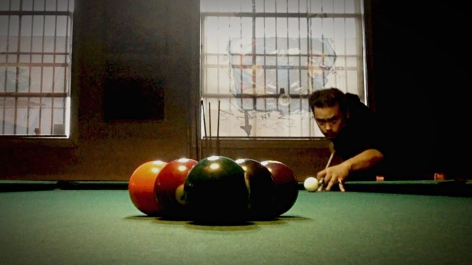 Billiards 9 Ball Shooting Pool Playing Pool Playing Billiards