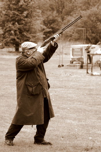 Sunday Shoot Countryside Leisure Activity Lifestyles Men Outdoors Shooting Shotgun Skill  Standing
