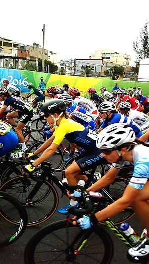 Olimpiadas. Bicycle Sport Cycling Cycling Helmet Athlete Sports Race Olimpiadas2016 Riodejaneiro Recreio Beach Racing Bicycle Healthy Lifestyle Outdoors People Adult Sportsman Paint The Town Yellow Go Higher