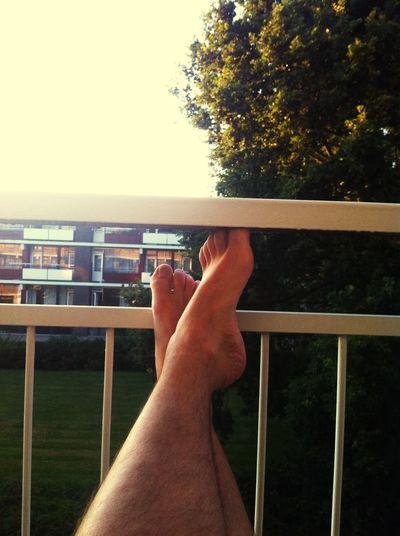 Enjoy the moment on myn Balcony Barefoot Enjoying The Sun Enjoying Life Enjoy The Moment