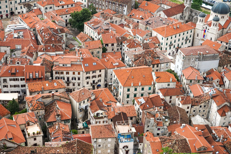 Mediterranean  Old Town Old Town Streets Roof Travel Traveling View Kotor Montenegro Rooftops Town Travel Destinations View From Above