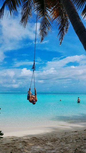 Male Maldivler Beach Sea Tree Sand Cloud - Sky Water Sky Swing Horizon Over Water Nature Tropical Climate Beauty In Nature Blue Outdoors Tranquility Palm Tree Nautical Vessel Day Vacations Rope Swing