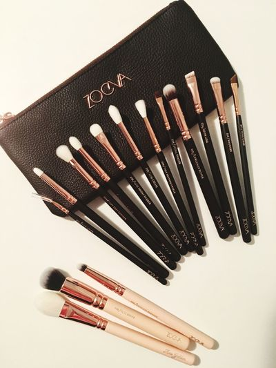 Zoevacosmetics Zoeva Brushes MakeUp Brushes Makeup Still Life Studio Shot Variation No People Large Group Of Objects White Background Close-up