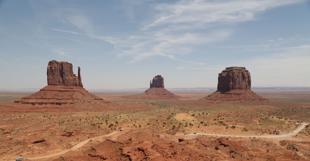 Monument valley against sky