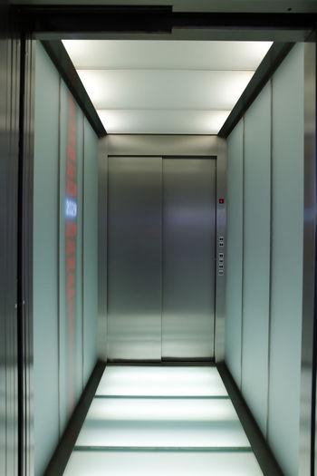 Closed Doors Of Elevator