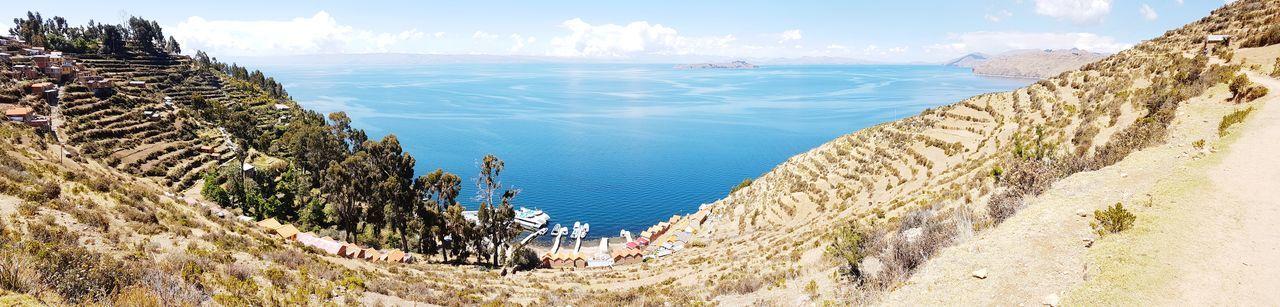 Titicaca Lake Travel Destinations Travel Bolivia Peru Panorama Panoramic Photography Panoramic Landscape Landscape Mountains Lake Galaxy S7 Galaxys7 Copacabana Bolivia Copacabana
