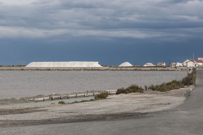 Santa Pola - Saltworks 17 Cloudy Day Cloudy Sky Mediterranean Landscape Nature Park  Panoramic View Salinas Salt Saltworks Santa Pola Stormy Weather Tranquility Arid Climate Building Exterior Day Horizon Over Water Land No People Outdoors Road Salt - Mineral Salt Mountain Seaside Stormy Sky Travel Destination White Color