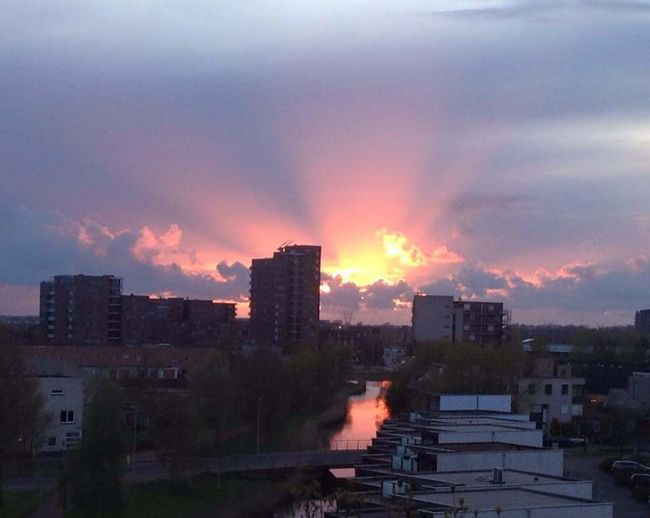 Tonights Sunset Reallybeautiful Sky And Clouds View From Above Buildings & Sky Hollanddubistsohot