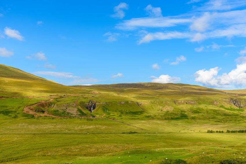 Fairy Glen Scotland Scottish Uig Beauty In Nature Cloud - Sky Day Grass Green Color Highlands Landscape Mountain Mountain Range Nature No People Outdoors Scenics Sky Tranquil Scene Tranquility