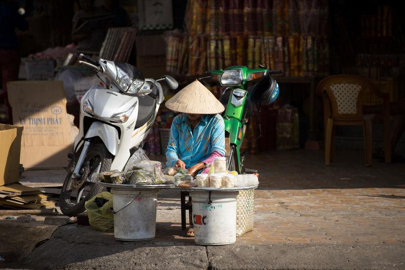 View of a street vendor