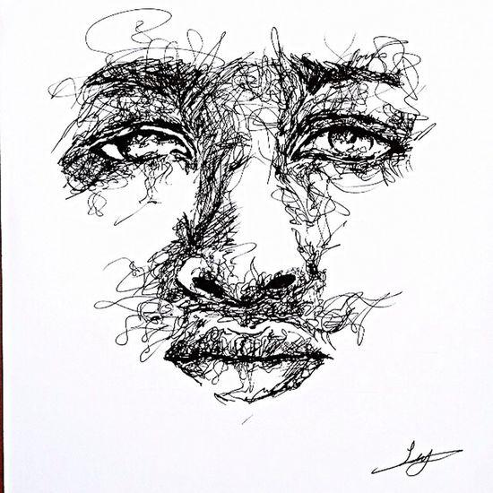 Drawing ArtWork Photoshoot Photooftheday Art Eyes Pencil Pen Scrubble Black