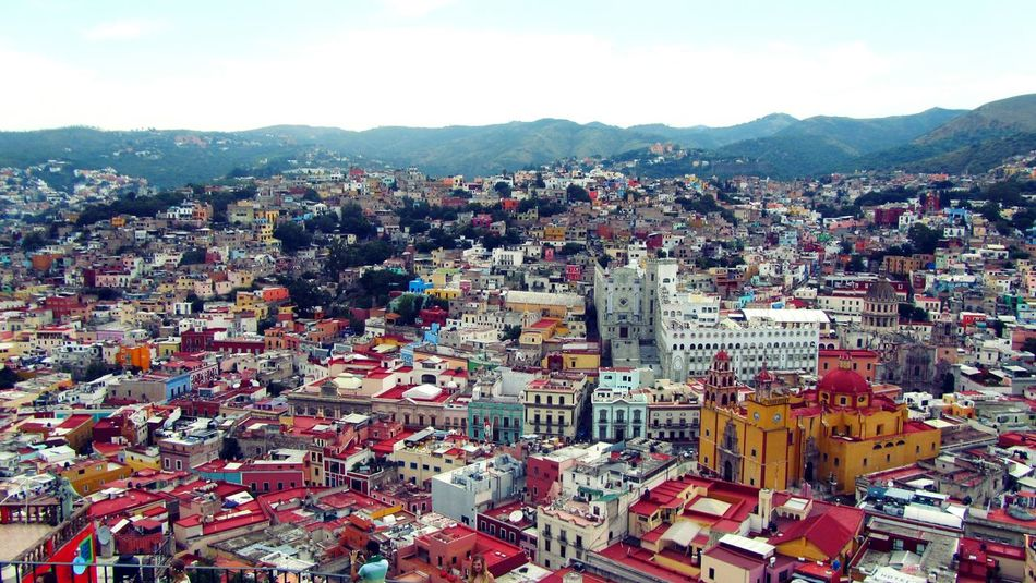 Colorful Colors Colour Of Life Guanajuato, México Independence Facades Houses Street Photography Panoramic Photography Panoramic View Eyeemphotography