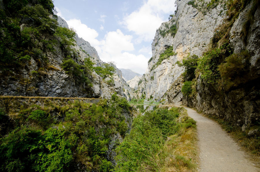 Cliff Day Geology Lush Foliage Mountain Physical Geography Remote Rock Rock - Object Rock Formation Rocky Rocky Mountains Scenics Stream Valley Picos De Europa Rutadelcares