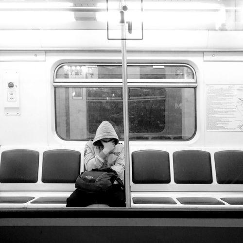 Blackandwhite Mobilephotography Subway Metro People Watching
