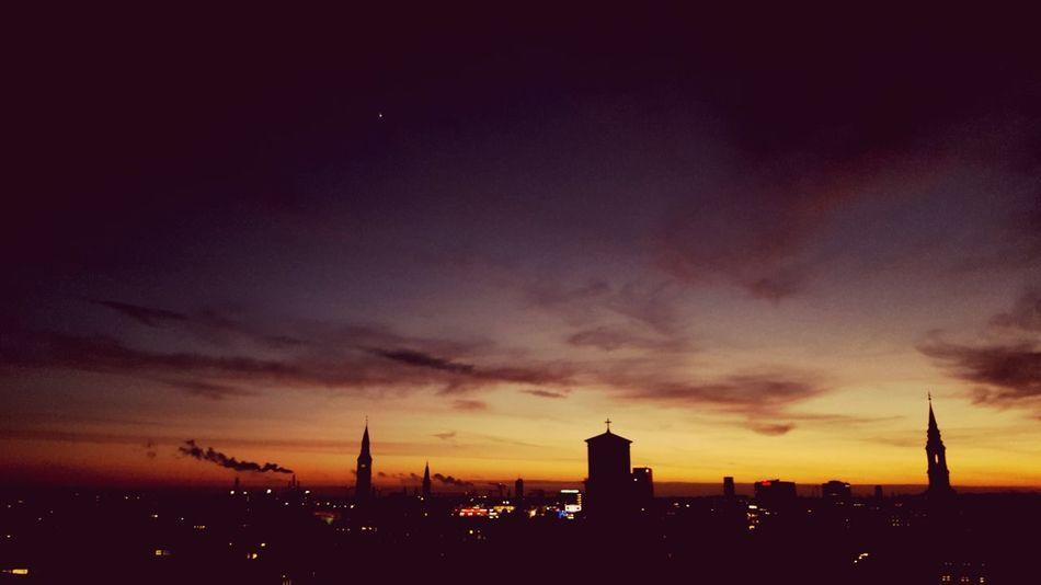 Bigcitylife Evening Sky Lonelystar Urban Skyline Sky City Sunset