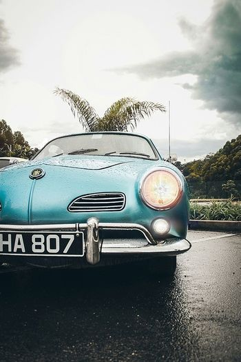 Vintage vibe of the day Photography EyeEm Best Shots Water Car Sky Close-up Vintage Car Bumper Headlight Vehicle Light