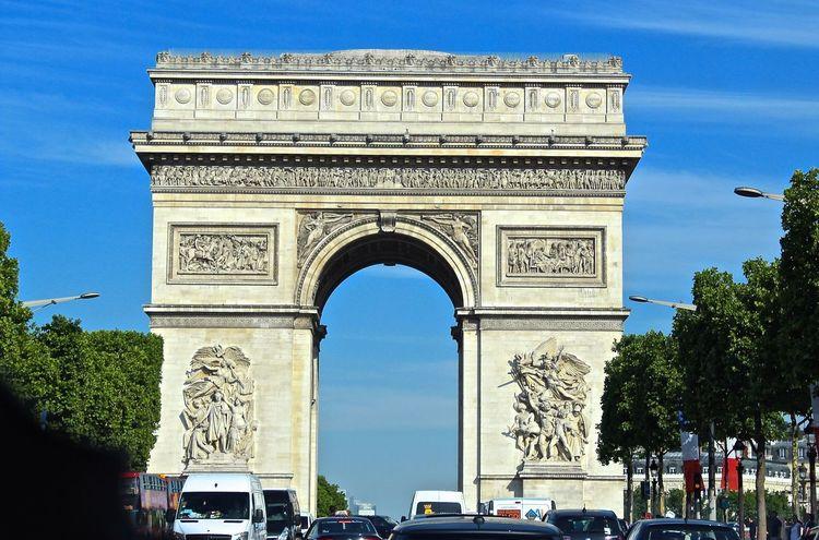 Paris, France  French Architecture Arc De Triomphe