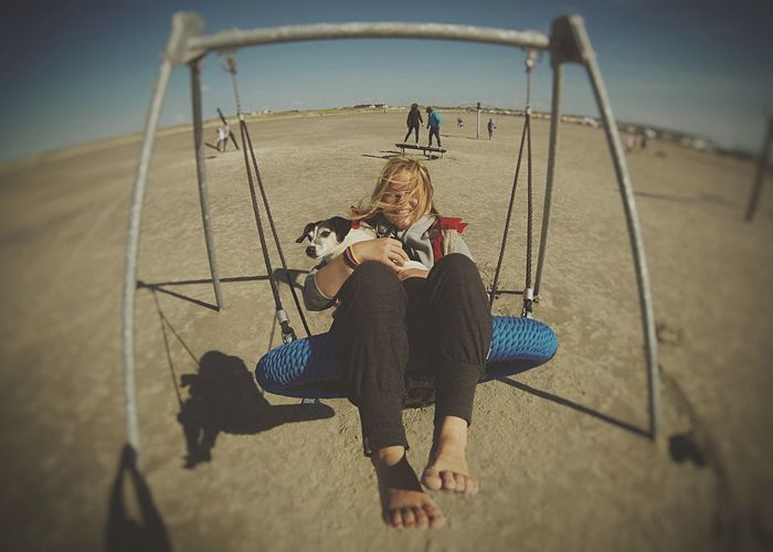 Kitesurfing sessions allow all sorts of fun with Sallybeste Outdoors Barefoot Vanlife Laughing Capturing Freedom