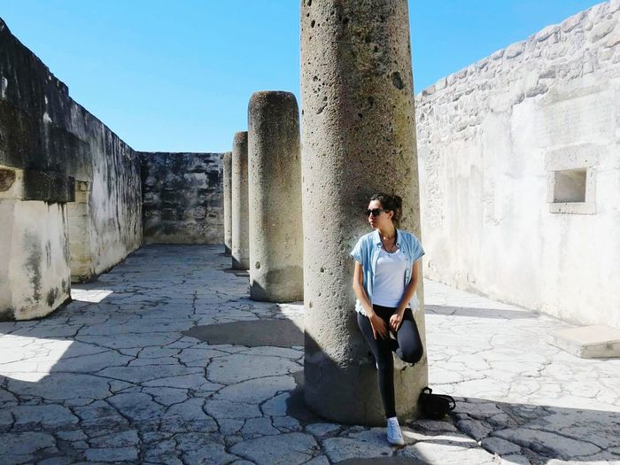 MITLAN Architecture Old Ruin Clear Sky History Ancient Civilization One Person Beautiful View OaxacaMoment Mexico