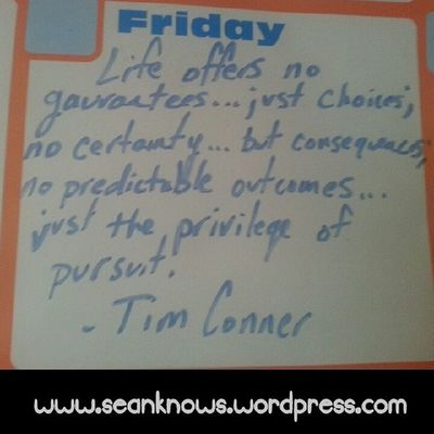 SeanKnows Dailyquote Friday Value