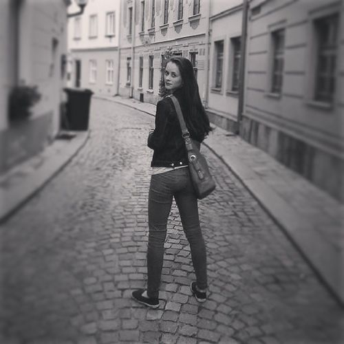 Me In Jihlava Dark nicebeautifulstreeroldhousesblackandwhitephotoinstapicinstagirlinstaphotofollowvsco