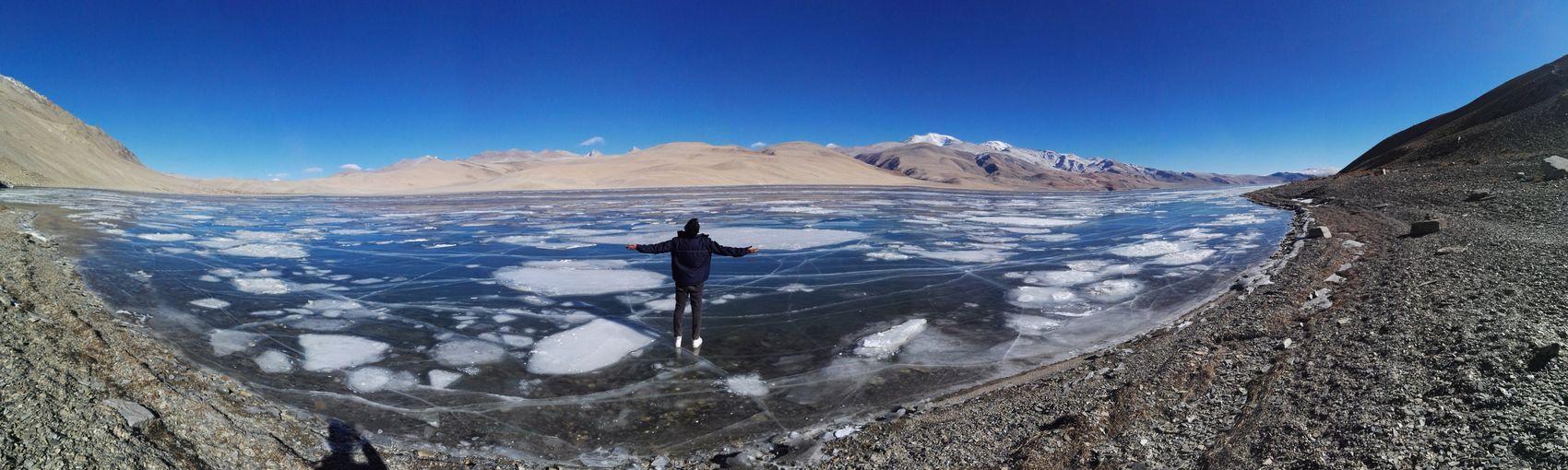 Lake Tso Morriri, Ladakh, India Extremecold Frozen Lake Mountain Range Landscape Travel Destinations Vacations Nature Travel