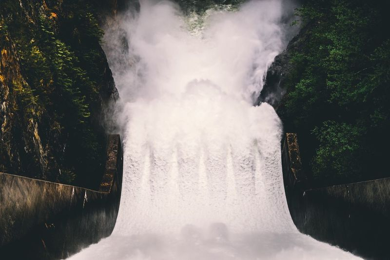 Motion Water Flowing Water Long Exposure Waterfall Outdoors Nature Tree Day No People Blurred Motion Hydroelectric Power Dam Beauty In Nature Scenics Spraying Power In Nature
