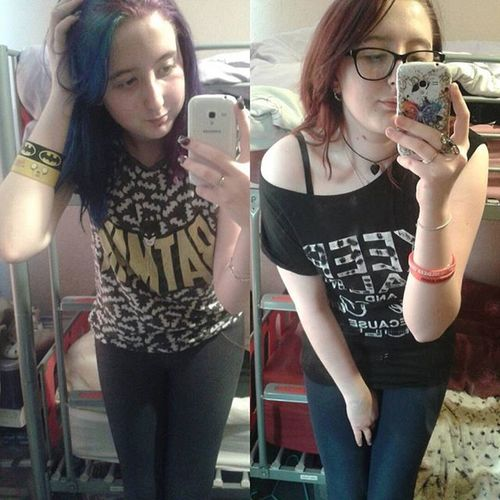 Amazing how much I can change in a yr. Omg Oneyear WOW Uglyface Ugly Stillterrible Stillfattho Ew 1yrdifference GrowingUp Haircolor Change