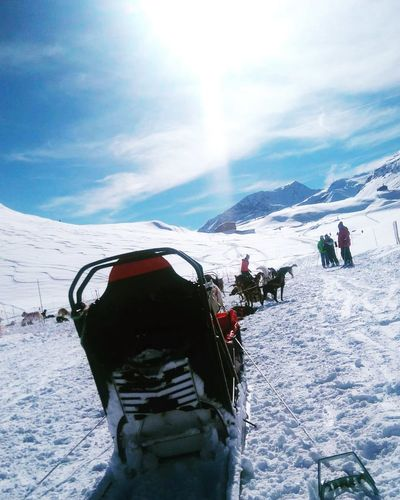 Snow Sun Mountain Winter Sport Outdoors Sport Ski Holiday Cold Temperature