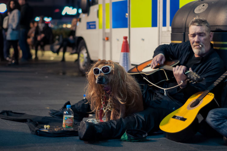 Alcohol Crazy Crazy Moments Dog Friends Guitar Homeless London Police Car Street