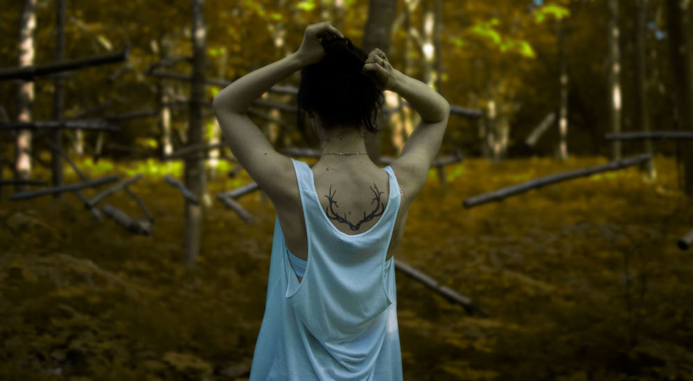 35mm Branches Brown Day Forest Girlfriend Nature Nature Outdoors Portrait Selective Focus Tattoo Tree White