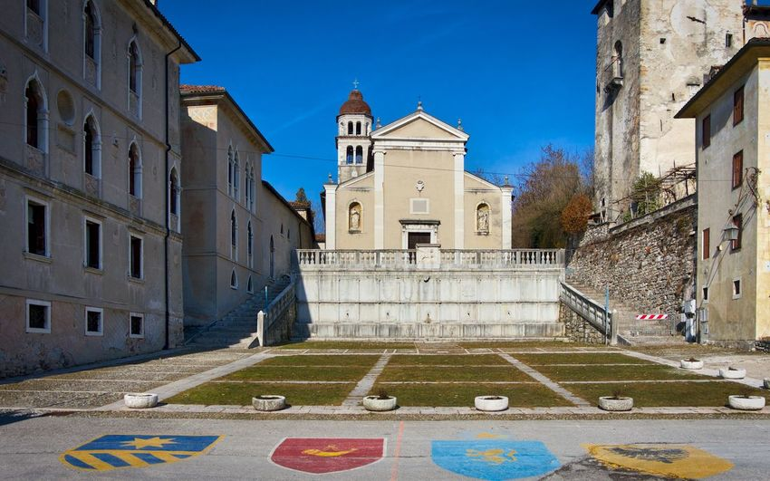 Feltre - Veneto Architecture Building Exterior Built Structure Building Place Of Worship Sky Religion Blue City History The Past Day Spirituality Nature Belief Tower Travel Destinations No People Outdoors Clock Italy🇮🇹 Feltre