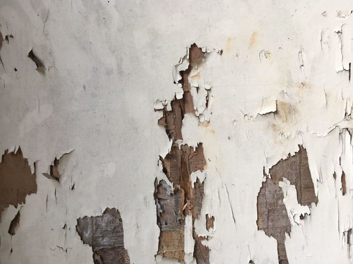 Weathered Textured  Damaged Backgrounds Wall - Building Feature Old Run-down Peeled Bad Condition Full Frame Peeling Off Paint No People Abandoned Pattern Deterioration Architecture Decline Built Structure Obsolete