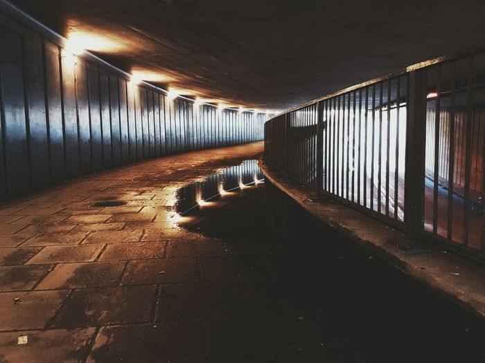 What is truly beyond that light at the end of the tunnel🤔. Photography London Greenstreet Tunnel Rain Reflections In The Water